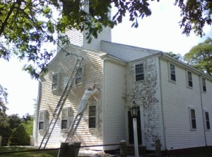 painting the meeting house